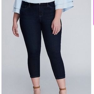 Lane Bryant Skinny Stretch Dark Denim Capris